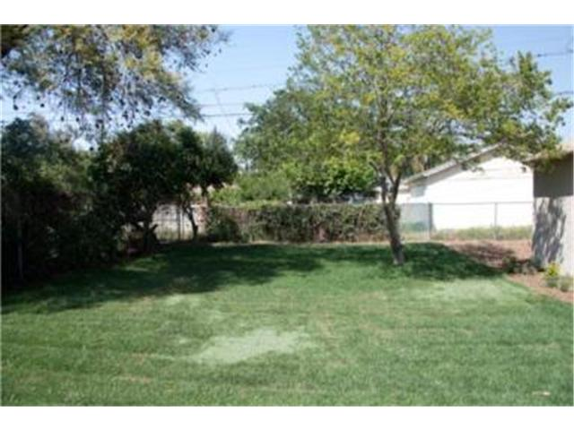 3575 Rosewood backyard with new sod and new landscaping