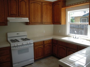 3681 Hoover remodeled kitchen with new appliances and new tile floor.
