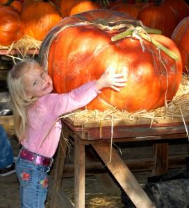 Brooklynn and the Big Pumpkin 2010!