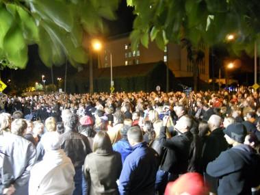 Slain Officer Ryan Bonaminio's candlelight vigil 11-11-10