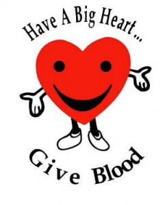 Valentines blood donation