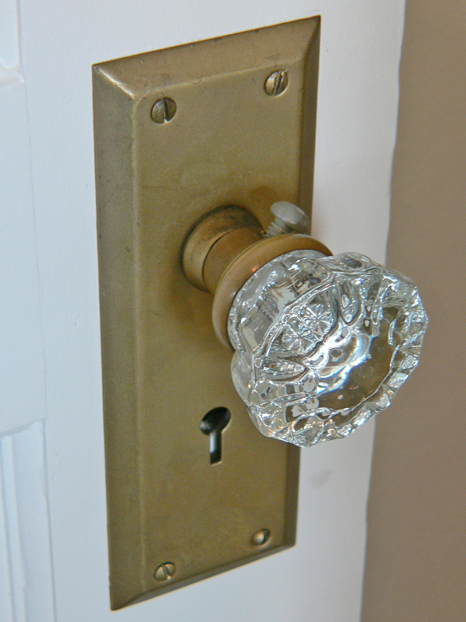 An original glass door knob.
