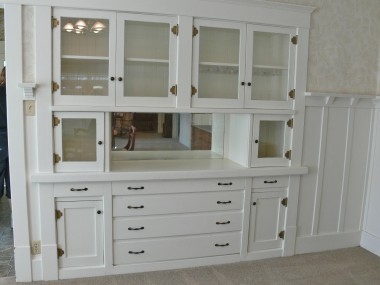 Another amazing feature of the classic California Bungalow: a built-in China hutch with flanking plate rails too.