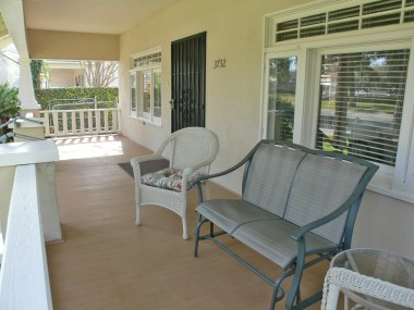 The spacious and breezy front porch is one of the most desirable features of a classic California Bungalow.
