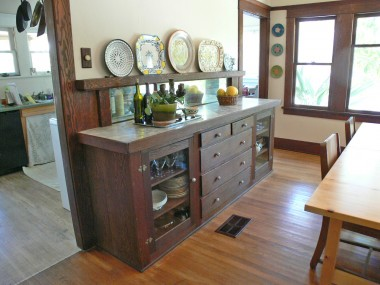 Built-in buffet in formal dining room.