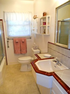 Original bathroom tile in exquisite condition -- looks like it was just installed yesterday! Amazing!