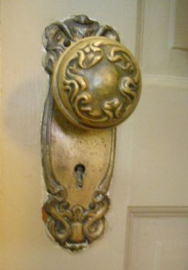 Original bedroom doorknob!