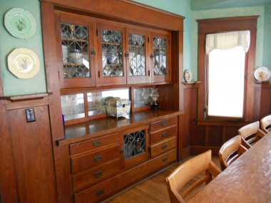 Formal dining room original built-in hutch!
