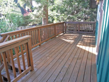 Back deck re-stained and ready for backyard gatherings!