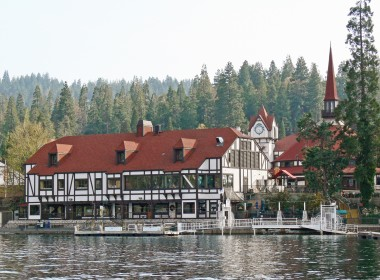 View of Lake Arrowhead Village from boat