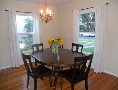 Separate formal dining room (chandelier pictured here is a family heirloom and will be replaced prior to close of escrow).