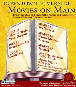 Movies on Main in downtown Riverside