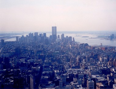 Photo of World Trade Center taken from Empire State Building