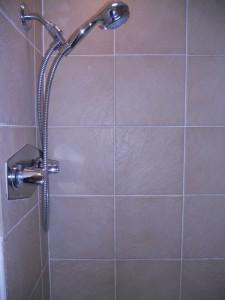 Updated master shower enclosure.