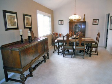 Alternate view of formal dining area