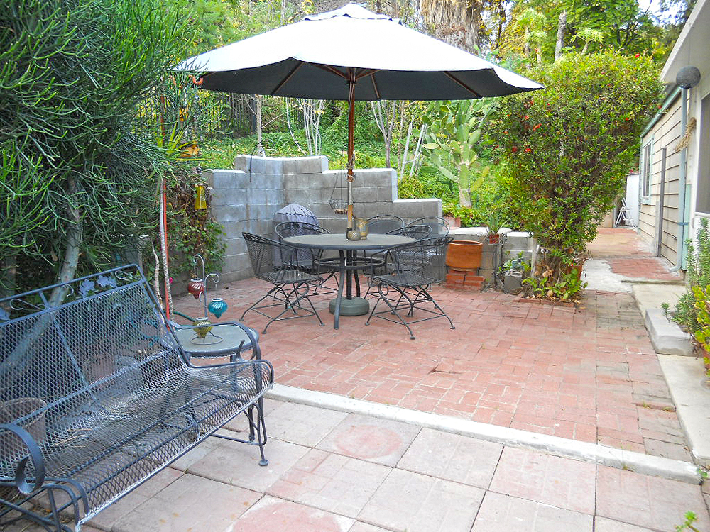 Private backyard patio.