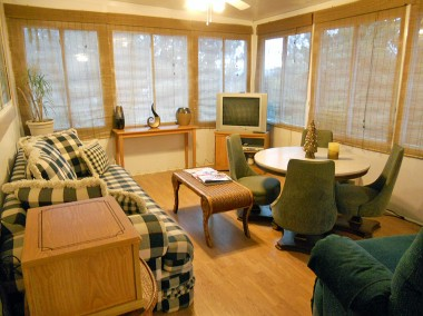 Alternate view of bonus room -- relax with friends for game night or Super Bowl parties!