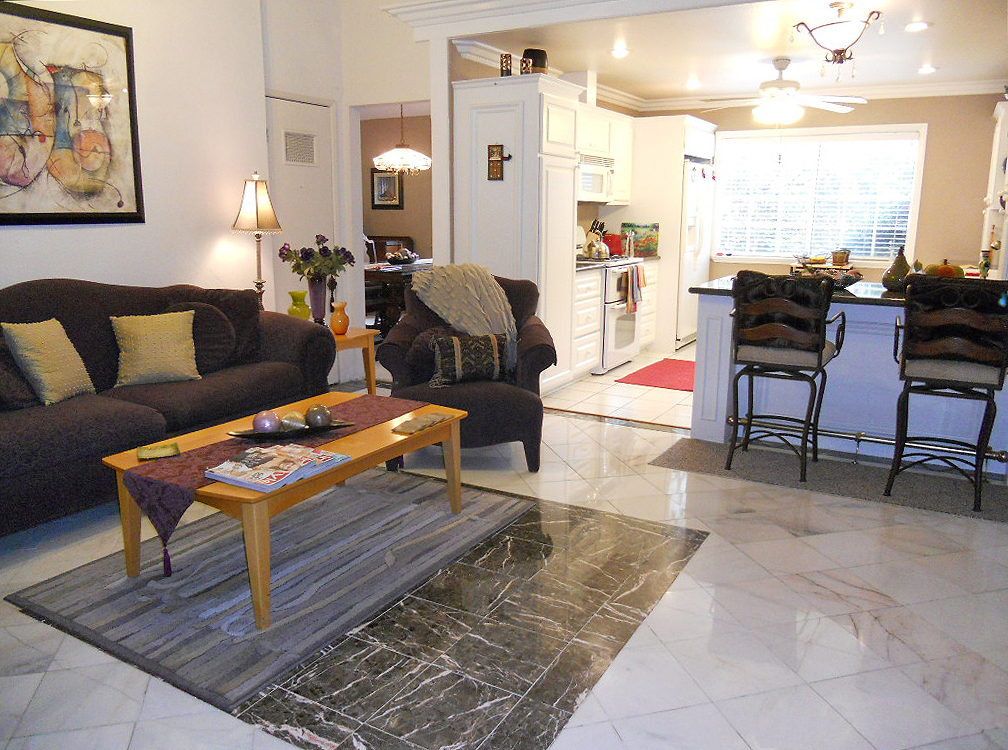 Kitchen opens up into family room -- perfect for entertaining family and friends.