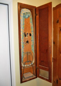 Original built-in ironing board still in the laundry room!