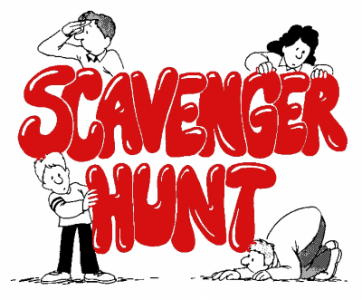 scavenger hunt 1-22-12 noon to 3 pm Riverside California