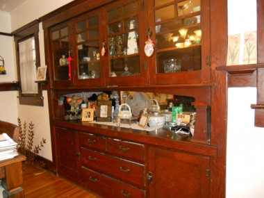 Magnified view of original China hutch!