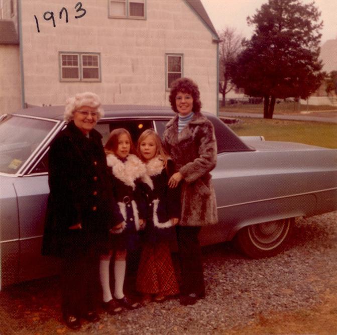 Grandmom Ralph, April, Tara and Mom - 1973 Pennsylvania