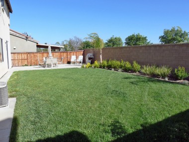 Alternate view of spacious pool-sized backyard! Both sides of house could be used as a dog run! Lots of possibilities with this yard.
