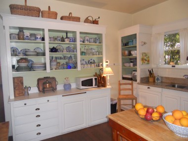 Built-in kitchen hutch.