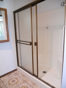 Private master bathroom shower.