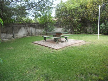 Yard is large enough for a pool, or keep as is for picnics and family gatherings.