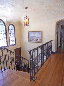 Once upstairs, you'll just be amazed at the artistry detail in the ceiling, the windows, and the doorways.
