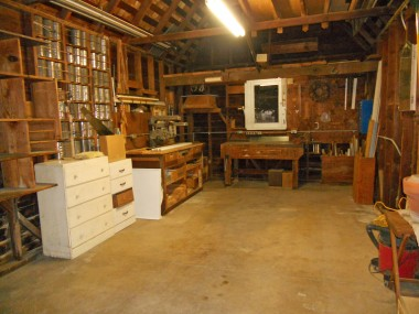 For a 1-car garage, there is a lot of space in here, including the high attic storage. If buyer wants, most of the items, including a saw, will stay.