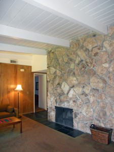 A second fireplace... this one in the family room! How cozy....