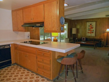 Alternate view of kitchen overlooking the spacious family room.