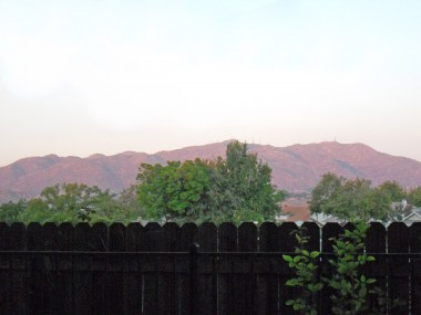Gorgeous unobstructed view of hills from the backyard!