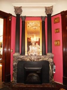 Back parlor fireplace.