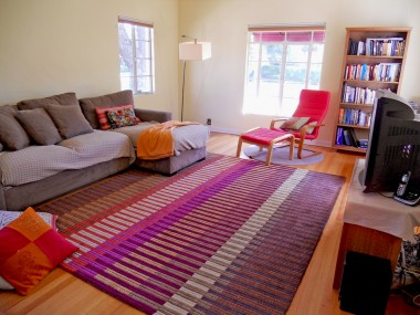 Alternate view of large living room with lots of natural light!