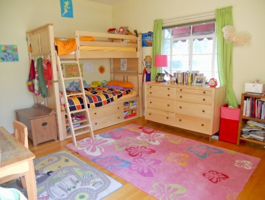 Another large bedroom with beautiful hardwood floors and large closet.