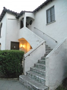 Front staircase to upstairs unit (address for this unit is 3582 Elmwood Drive).