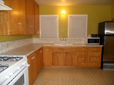 Large kitchen with lots of cabinetry (more on other side of kitchen), AND a breakfast nook!