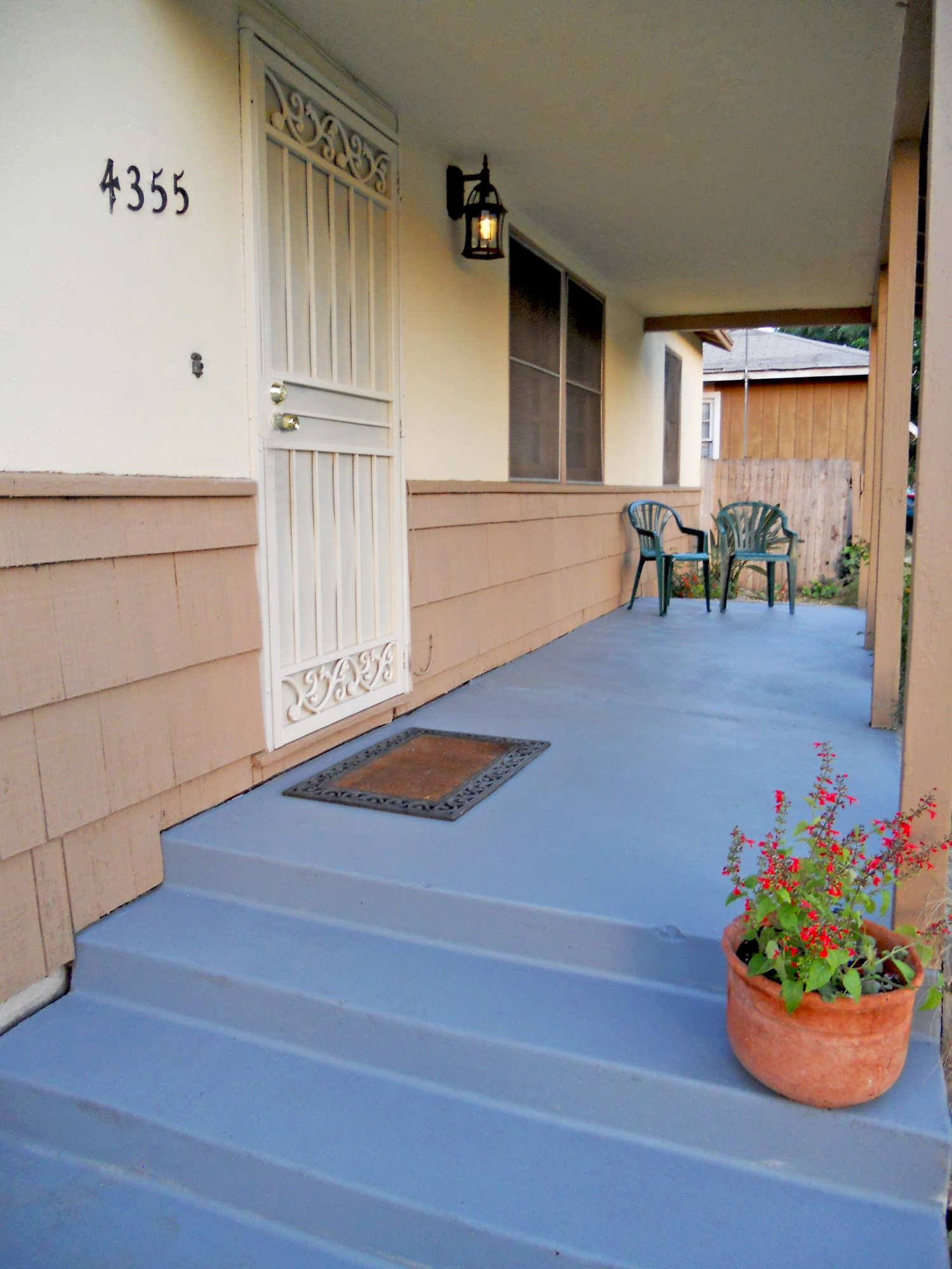 Large front porch -- all new exterior paint!