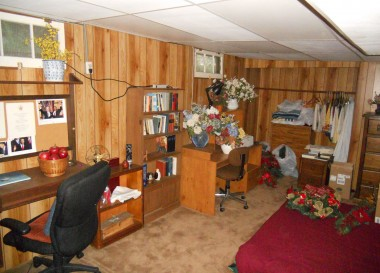 Finished basement that could be used as a 3rd bedroom or office/den.