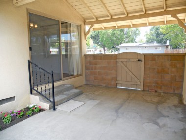 Breezeway could be enclosed to create a huge family room.