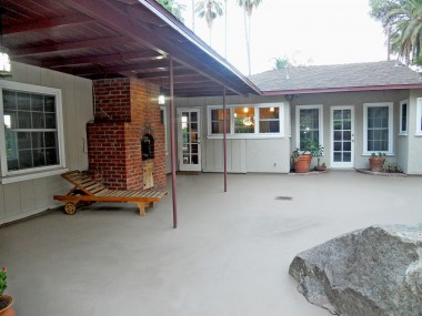 Large patio.