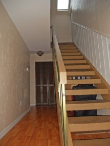 Stairway to two upstairs bedrooms.
