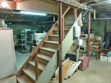 Huge basement perfect for storage, wine, workout room, hobbyists, etc. The possibilities are endless. Stairway to basement is accessible from inside house or through the backyard.