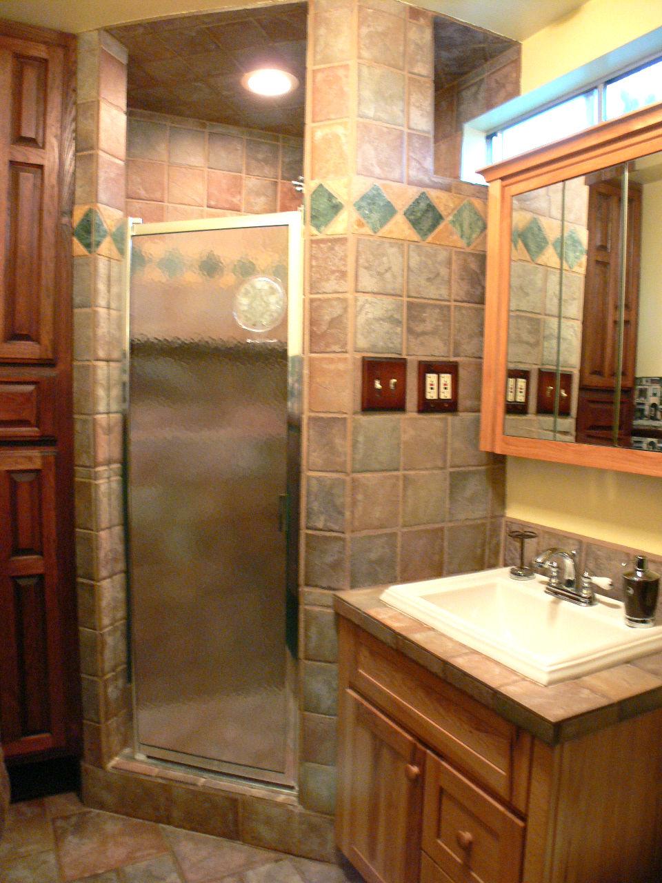 Remodeled Upstairs Three Quarter Bathroom
