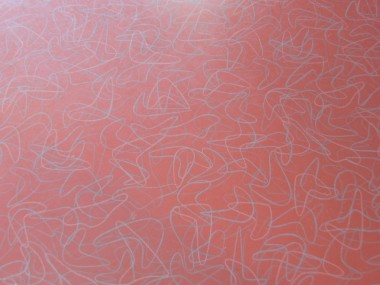 Magnified view of boomerang pattern on the 1950s style kitchen counter top.  Pure retro!