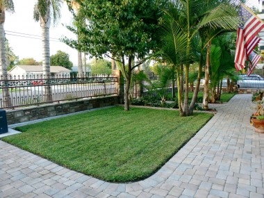 Front yard with decorative wrought iron fencing. Entire yard is fenced and doggy friendly!