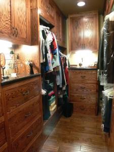 Custom built walk-in closet.